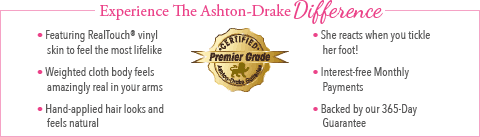 Feel The Ashton Drake Difference - Emma Baby Doll