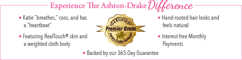 Feel The Ashton Drake Difference - Katie Baby Doll