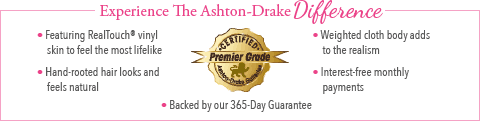 Feel The Ashton Drake Difference - Little Peanut Baby Doll