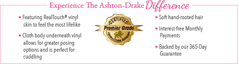 Feel The Ashton Drake Difference - Little Grace Baby Doll