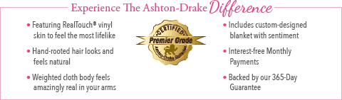 Feel The Ashton Drake Difference - Blessed Are The Pure Of Heart Baby Doll