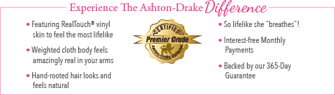 Feel The Ashton Drake Difference - Beautiful Dreamer Baby Doll